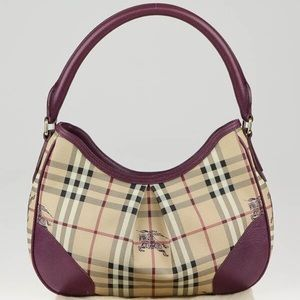 NWT BURBERRY HAYMARKET BAG